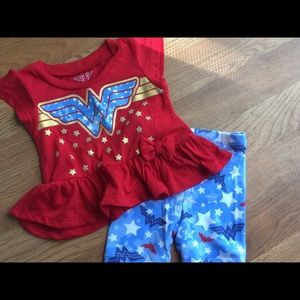 Baby girl Wonder Woman short set
